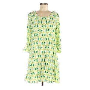 NWT CHARMING CHARLIE White & Green Print Dress
